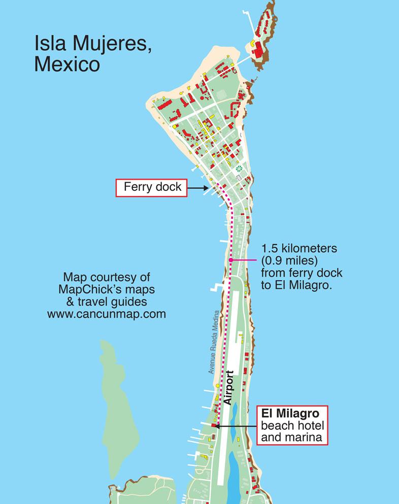el Milagro Marina Vacation Hotel Accomodations on Isla Mujeres